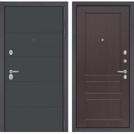 Входная стальная дверь Сенатор ART цвет 03 Орех премиум