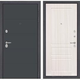 Входная стальная дверь Сенатор АРТ цвет 03 Сандал белый