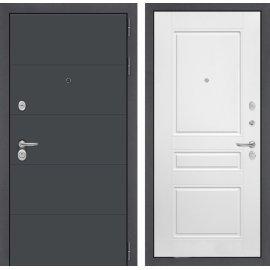 Входная стальная дверь Сенатор АРТ цвет 03 Белый софт