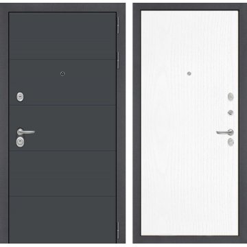 Входная стальная дверь Сенатор АРТ цвет 07 Белое дерево