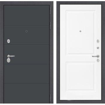 Входная стальная дверь Сенатор АРТ цвет 11 Белый софт
