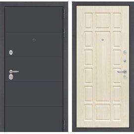 Входная стальная дверь Сенатор АРТ цвет 12 Беленый дуб