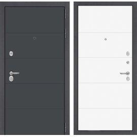 Входная стальная дверь Сенатор АРТ цвет 13 Белый софт