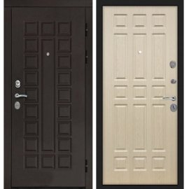 Входная дверь Сенатор с замком CISA 57.966 ФЛ-33 Беленый дуб