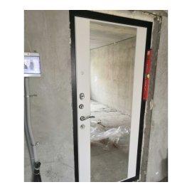 Сенатор Премиум 3к с противоударным Зеркалом СБ - 16 цвет Белый ясень входная стальная металлическая дверь