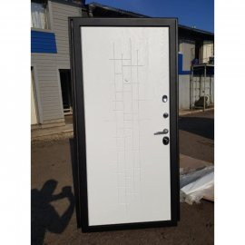 Сенатор Премиум 3к ФЛ-289 Тетрис цвет Белый ясень входная стальная металлическая дверь