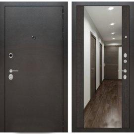Входная дверь Бордер с ударопрочным Зеркалом Венге
