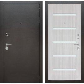 Входная дверь Бордер ФЛ-1 Сандал белый стекло белое