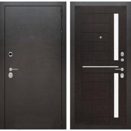 Входная металлическая дверь Бордер ФЛ-2 Венге стекло белое