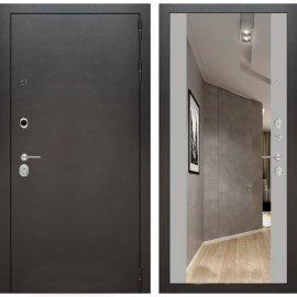 Входная дверь Бордер с ударопрочным Зеркалом Софт грей