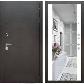 Входная дверь Бордер с ударопрочным Зеркалом Белый софт