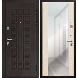 Входная металлическая дверь Йошкар-Ола Senator СБ-16 с ударопрочным зеркалом цвет Лиственница белая