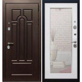 Входная металлическая дверь Йошкар-Ола Премиум 5к Пастораль Белый ясень ударопрочное Зеркало