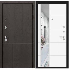 Входная металлическая дверь Сенатор Ультиматум ФЛ-19 с зеркалом Белый софт