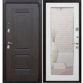 Входная дверь Премиум А-Пастораль цвет Ясень белый с ударопрочным Зеркалом