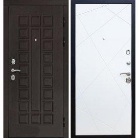 Входная дверь Сенатор с замком CISA 57.966 ФЛ-291 Белый силк сноу
