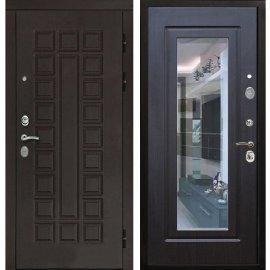 Входная дверь Сенатор с замком CISA 57.966 с ударопрочным Зеркалом Венге