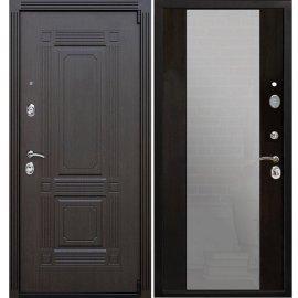 Входная стальная дверь Премиум А-СБ - 16 цвет Венге/Венге с ударопрочным Зеркалом