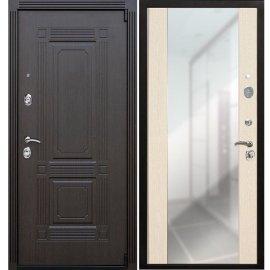 Входная дверь Премиум А-СБ - 16 цвет Лиственница бежевая с ударопрочным Зеркалом