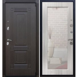 Входная дверь Премиум А-Пастораль цвет Сандал белый с ударопрочным Зеркалом