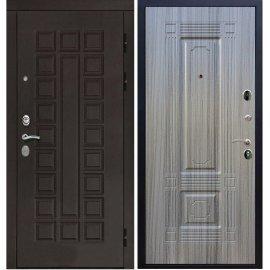 Входная дверь Сенатор с итальянским замком CISA 57.966 ФЛ-2 Сандал серый