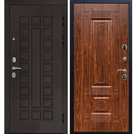 Входная дверь Сенатор с итальянским замком CISA 57.966 ФЛ-2 Берёза морёная