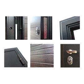 Входная металлическая дверь Сенатор Престиж 3к Антик Серебро | Венге поперечный