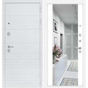 Входная дверь Классика ФЛ-16 с Зеркалом Белый софт