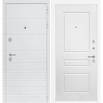 Входная дверь Классика ФЛ-3 Белый софт