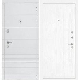 Входная металлическая дверь Сенатор Классика ФЛ-7 Белое дерево