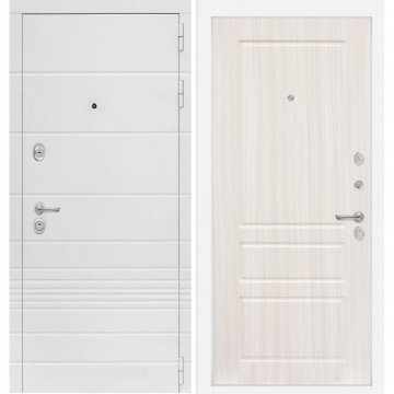 Входная дверь Классика ФЛ-3 Сандал белый