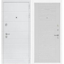 Входная металлическая дверь Сенатор Классика ФЛ-6 Белое дерево