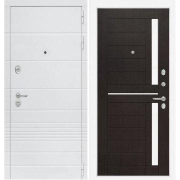 Входная дверь Классика ФЛ-2 Венге, стекло белое