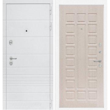 Входная дверь Классика ФЛ-4 Беленый дуб