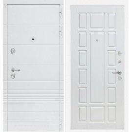 Входная металлическая дверь Сенатор Классика ФЛ-12 Белое дерево
