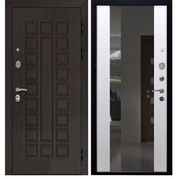 Сенатор 3к с противоударным Зеркалом СБ - 16 цвет Белый ясень входная стальная металлическая дверь