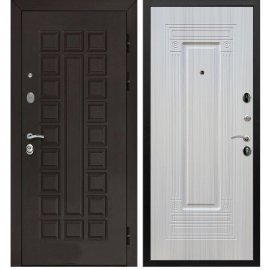 Входная металлическая стальная дверь Йошкар-Ола Senator ФЛ-4 цвет Лиственница беж