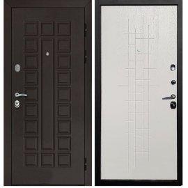 Входная металлическая стальная дверь Йошкар-Ола Senator ФЛ-289 Тетрис цвет Белый ясень