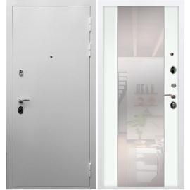 Входная металлическая дверь Сенатор Триумф 3к с ударопрочным Зеркалом СБ - 16 цвет Белый Ясень
