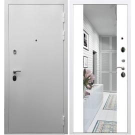 Входная металлическая дверь Сенатор Триумф 3к с ударопрочным Зеркалом СБ-16 Белый силк сноу