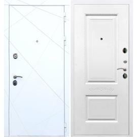 Входная металлическая дверь Сенатор Олимпия - 13 Смальта 04 Белый силк сноу