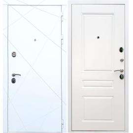 Входная металлическая дверь Сенатор Олимпия - 13 ФЛ-243 Белый силк сноу