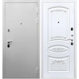 Входная металлическая дверь Сенатор Триумф 3к ФЛ-316 Белый патина Серебро