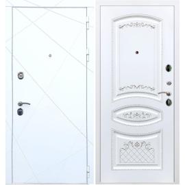 Входная дверь Сенатор Олимпия ФЛ-316 Белый патина Серебро