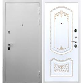 Входная металлическая дверь Сенатор Триумф 3к ФЛ-317 Белый патина Золото