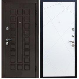 Входная стальная металлическая дверь Йошкар-Ола Senator -Лучи цвет Белый софт