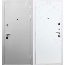 Входная металлическая дверь Сенатор Триумф 3к - Лучи Белый силк сноу