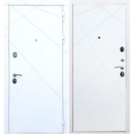 Входная металлическая дверь Сенатор Олимпия - 13 - Лучи Белый силк сноу