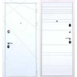 Входная металлическая дверь Сенатор Олимпия - 13 ФЛ-14 Белый силк сноу