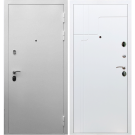 Входная металлическая дверь Сенатор Триумф 3к ФЛ-246 Белый силк сноу